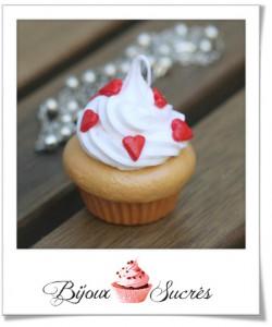 acheter sautoir cupcake coeurs