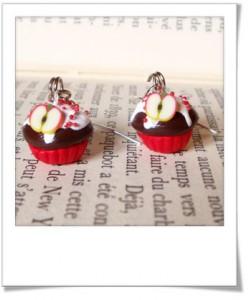 Cupcake canes fruits