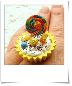 SouZouCreation Bague gourmande lolipop