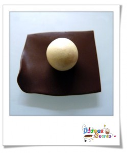 Magnum chocolat en pâte fimo Etape 2