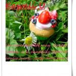 Cupcake fraise fimo