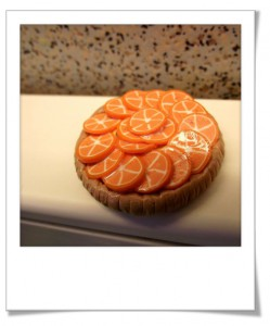 Tarte à l'orange en pâte fimo