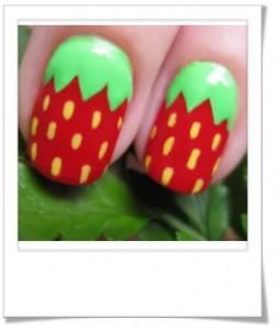 nail art fraises