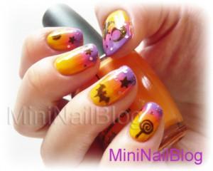 nail art chauves souris