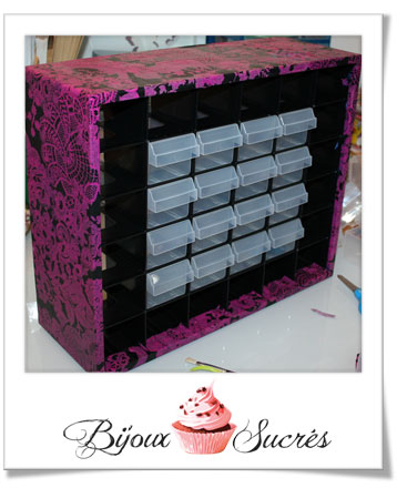 diy customiser une boite de rangement avec d copatch. Black Bedroom Furniture Sets. Home Design Ideas