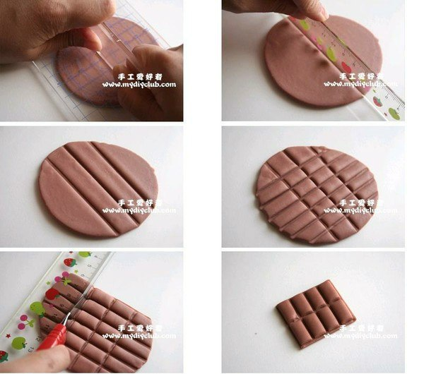 tuto fimo tablette de chocolat bijoux sucr s. Black Bedroom Furniture Sets. Home Design Ideas
